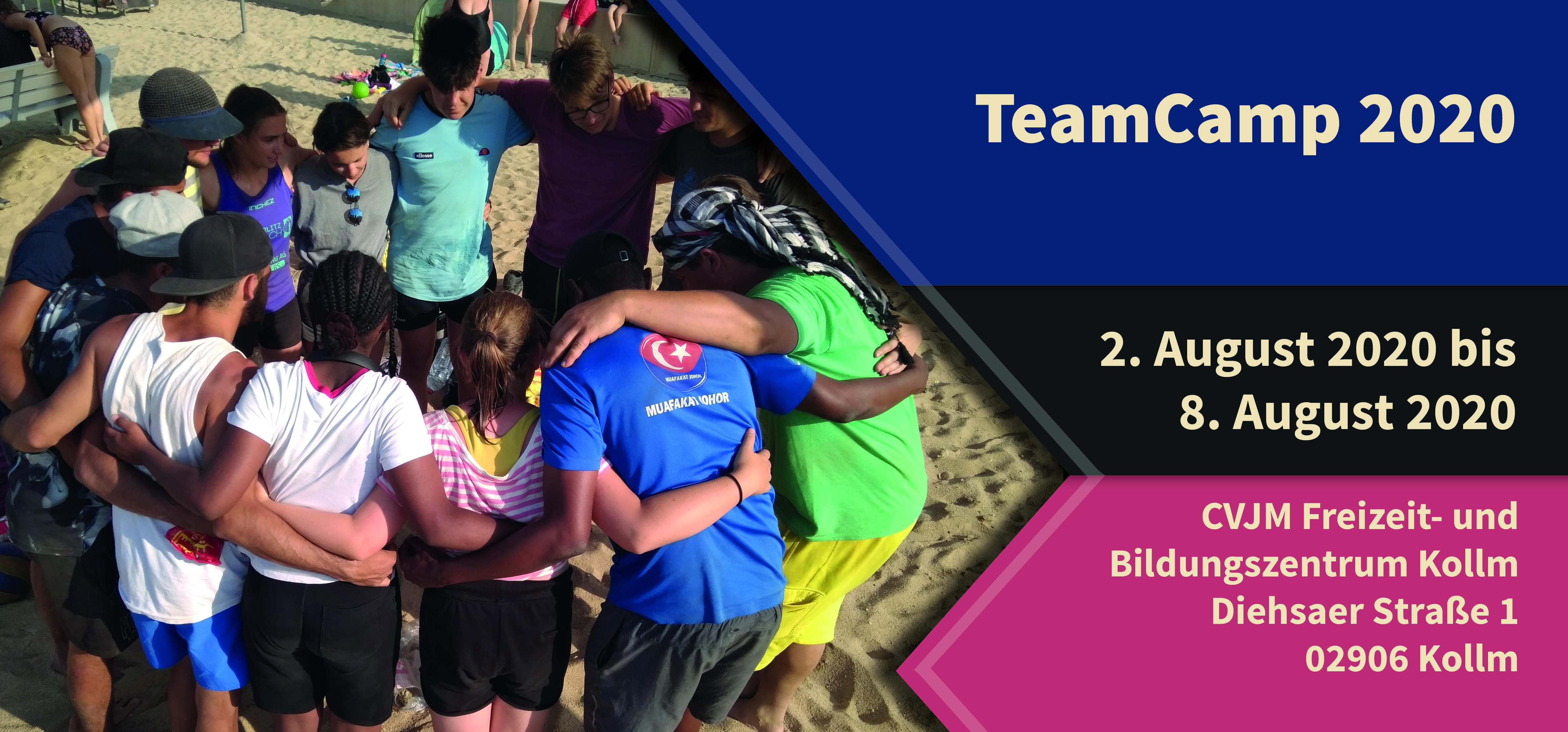 Flyer Teamcamp Vorderseite
